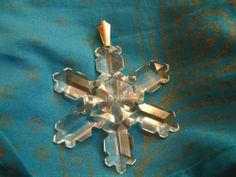 Swarovski Limited Edition Crystal Snowflake Christmas Ornament 1992 RARE | eBay