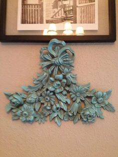 Upcycled Recycled Shabby Chic Wall Hanging by debby77 on Etsy, $22.00