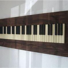 repurposed piano keys | Custom Made Repurposed Piano Key Wall Art