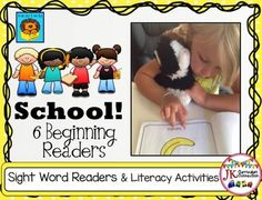School! Beginning Readers for Guided Reading {CCSS}These 6 Handy Dandy School Beginning Readers target key sight and high frequency words. All 6 books come with engaging printable activities in B/W. They feature the following topics:*Backpacks*Lunch *Playground