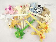 Wholesale Christmas Gifts Lovely Ballpoint Pens Plush Cartoon Animal Ballpoint Pen, Free shipping, $0.93-1.14/Piece | DHgate
