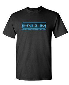 02cb2256d9de07 ENCOM - retro 80 s movie evil empire - Mens Cotton T-Shirt