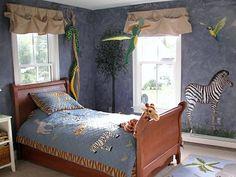 75 Fantastic Jungle Theme For Kids Bedroom Design To Enhance Adventurous Souls Safari Theme Bedroom, Safari Living Rooms, Bedroom Themes, Bedroom Decor, Bedroom Ideas, King Bedroom, Cozy Bedroom, Home Bedroom Design, Home Remodeling Diy