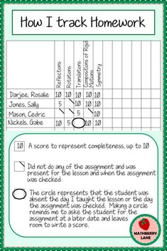 How I Track Homework – Mathberry Lane Teaching Strategies, Teaching Tips, Teaching Math, Middle School Classroom, Math Classroom, Classroom Ideas, Middle School Behavior, Classroom Libraries, 3rd Grade Classroom