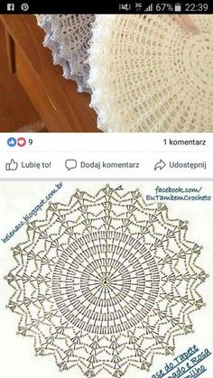 Jubii Webmail :: Vi tror, at du vil synes om disse pins Crochet Table Runner Pattern, Free Crochet Doily Patterns, Crochet Placemats, Crochet Doily Diagram, Crochet Pillow Pattern, Crochet Circles, Crochet Round, Crochet Chart, Thread Crochet