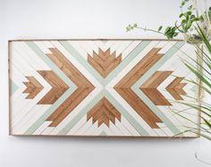 Reclaimed Wood Wall Art - Wooden Wall Art - Geometric Wood Art - Wooden Wall Art Hanging - Modern Wood Art - Boho Wood Art - Set of 3 Reclaimed Wood Wall Art, Wood Wall Decor, Wooden Wall Art, Diy Wall Art, Hanging Wall Art, Wooden Walls, Framed Wall Art, Diy Art, Wood Art Design