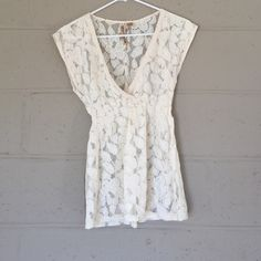 NEW Lace Top Lace Top. Never worn - brand new condition without tags. Size small - true to size. 80% cotton 20% nylon Tilly's Tops Blouses