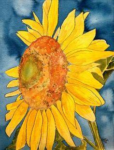 Buy sunflower macro flower watercolor painting print art prints by Derek McCrea at Imagekind.com. Shop Thousands of Canvas and Framed Wall Art Prints and Posters at Imagekind.