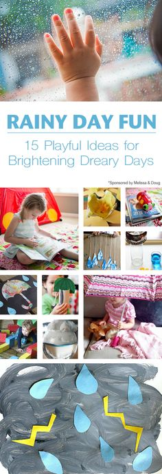 """15 Indoor Rainy Day Activities for Kids: Spring Roundup *Say """"Hello, spring!"""" with 15 indoor rainy day activities, art projects and science fun for kids on the Melissa & Doug Blog."""