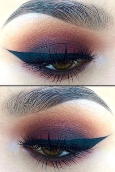 Little Burgundy eye makeup look, with makeup products list, winged eyeliner tutorial, smokey eye makeup, eyeshadow and lipstick colours, eye makeup tutorial, party makeup #makeuptipsandtricks