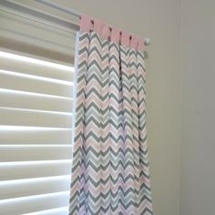 Pink and Grey Zoom Custom Drapery Tap Top by babymilanbedding, $175.00