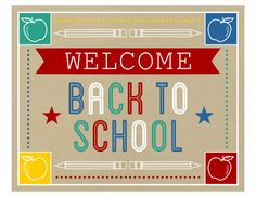 Great back to school sign! #freeprintables #backtoschool