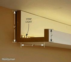 Diy recessed lighting how to install recessed lights with no attic making a hidden light and elegant atmosphere in your home need some work and some knowledgehow to install elegant cove lighting aloadofball Choice Image