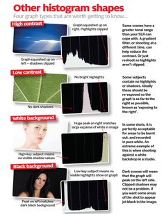 Before the histogram, photography enthusiasts had to go through a lot of effort to get good exposures. Our cheat sheets show you exactly how to interpret your camera's histogram.