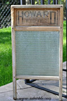 how to restore this antique washboard, woodworking projects, The glass has some white build up on it Vinegar and water