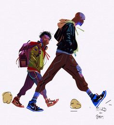 Spider-Man: Into the Spider-Verse Concept Art by Alberto Mielgo Artist and Desig. - Spider-Man: Into the Spider-Verse Concept Art by Alberto Mielgo Artist and Designer Alberto Mielgo - Fantasy Character, Character Concept, Character Art, Animation Character, Character Sketches, Spider Verse, Laser Tag, Concept Art World, Pixar Concept Art