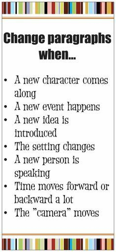 Write Tip: When to start a new paragraph.