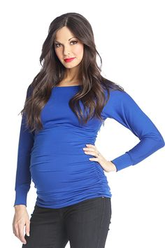 Lilac Taylor Long Sleeved Boat Neck Maternity Top | Maternity Clothes  www.duematernity.com #maternityclothes