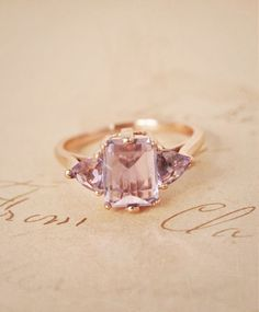 Rose Gold Amethyst Bea Ring