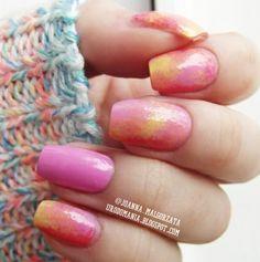 ombre spring/summer nails #nails #paznokcie #ombrenails #springnails #summernails