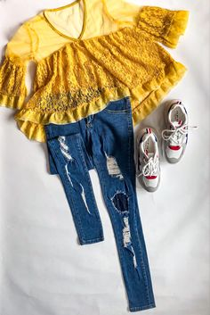 Lace is always a trend ! Get this lace top & pair it with anything and everything 🤩 & those torn denim 🔥 DM to place order 🛍 #crowned #crownedoutfit #fashion #casualwear #teeshirt #jeans #sneaker #bestoutfit #shopping #onlineshopping #beststore #collection #newyear #newbeginnings #outfitlove #classy #sassy #crown #clothingbrand New Beginnings, Casual Wear, Sassy, Sneaker, Tee Shirts, Skinny Jeans, Pairs, Crown, Denim