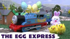 Thomas The Tank Engine Egg Express Easter Surprise Egg Kids Toy Train Tr... It's a lovely day here in the UK (for a change) which reminds us that Easter is approaching. We've got the Thomas The Tank Engine Egg Express greatest moments train for you today with some Easter bunnies, eggs and chicks around in the scenery. Hope you enjoy. #thomasandfriends #easter #easterbunny #easteregg #preschool #kids #toys #thomasthetankengine
