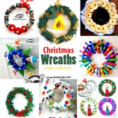 Christmas Wreaths - crafts for kids