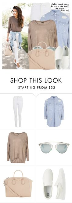 """2332. Blogger Style: Hello Fashion"" by chocolatepumma ❤ liked on Polyvore featuring Oris, Topshop, Christian Dior, Givenchy and Uniqlo"