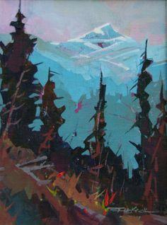 DPW Fine Art Friendly Auctions - Mountain Sketch by Brian Buckrell