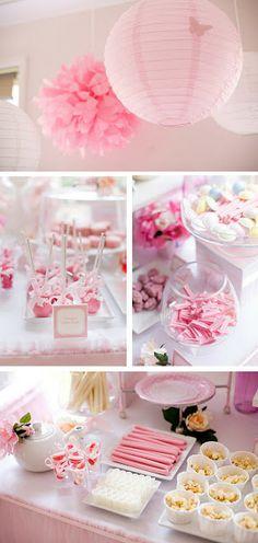 Festa Rosa de Barbie Princesa para Meninas