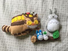 A personal favorite from my Etsy shop https://www.etsy.com/listing/294845111/a-set-of-totoro-inspired-ornaments