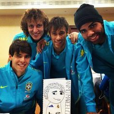 Kaká, David Luiz, Neymar & Sandro send his support to Marcelo :)