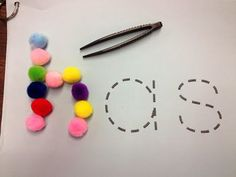 Great! Sight word practice and fine-motor skills strengthening! literacy center sight word activities