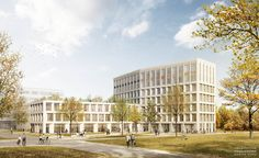 bogevischs büro   1. Preis Bürogebäude Weiherhof Nord   Visualisierung: nadinekuhn.com