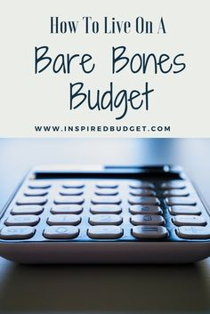 It's one thing to make a budget and tell your money where to go, but it's a completely different thing to live on a bare bones budget. A bare bones budget is when your budget Bare Bone, Unsecured Credit Cards, Household Budget, Living On A Budget, Frugal Living, Making A Budget, Debt Payoff, Debt Free, Bones