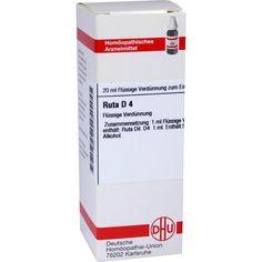 RUTA D 4 Dilution:   Packungsinhalt: 20 ml Dilution PZN: 02105192 Hersteller: DHU-Arzneimittel GmbH & Co. KG Preis: 5,64 EUR inkl. 19 %…