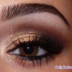 Gold Eyeliner, Brown Eyeliner, Smokey Eyeshadow, How To Apply Eyeliner, Dark Eye Makeup, Hazel Eye Makeup, Natural Eye Makeup, Smokey Eye For Brown Eyes, Latest Hair Color