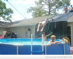 redneck water slide. Some how I can see the guys from Duck Dynasty doing this ;p