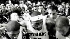 """As the stage sets around LeBron James' pep talk to his Caveliers, Cleveland falls silent. The city unites around their team because this time around, it's more than just a game; """"together"""" on six, """"Cleveland"""" on three!- iSpot.tv"""