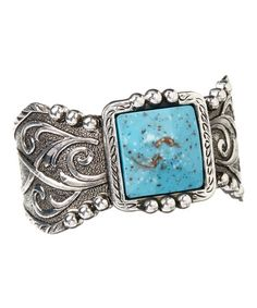Another great find on #zulily! Turquoise & Sterling Silver Blue Earth Filigree Cuff #zulilyfinds