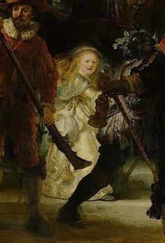Rembrandt La ronde de nuit 1642 ( détail )