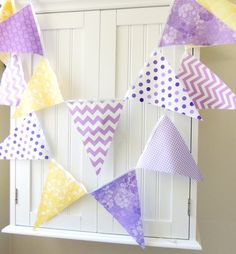 Wedding Banner Bunting Fabric Pennant Flag by vintagegreenlimited