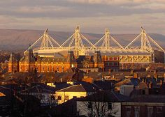 Deepdale, bathed in sunset