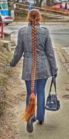 Long Hair Trim, Long Red Hair, Beautiful Braids, Beautiful Long Hair, Down Hairstyles, Braided Hairstyles, Long Hair Models, Really Long Hair, Rapunzel Hair