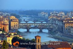 Bridges over Arno river Photo | Views from Piazzale Michelangelo - Florence Pictures