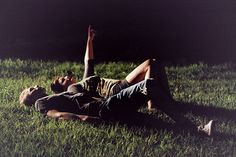 love laying in the grass with the one you love and looking at the stars :)
