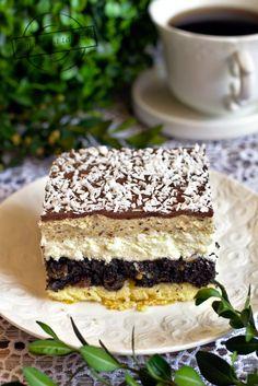 Polish Recipes, Polish Food, Sweets Cake, Dessert Recipes, Desserts, Tiramisu, Ice Cream, Pudding, Cooking