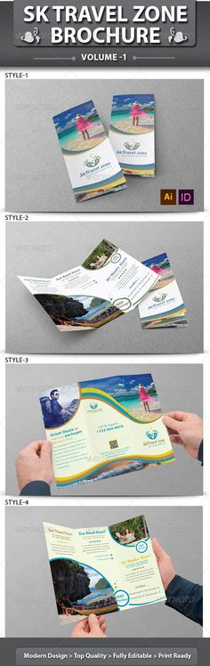 Vintage Travel Brochure Tri-fold Travel brochure, Brochures and - vacation brochure template