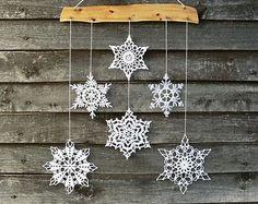 Decorazioni natalizie fiocchi di neve mobile di Woodstorming