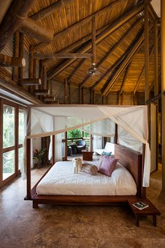 Your Oasis: king bed (with luxury bed linens,) private balcony, and private bathroom. Luxury, deep in the jungle. Luxury Duvet Covers, Luxury Bedding, Modern Bedding, Hotel Linen, Equador, Bamboo Design, Lodge Decor, Luxury Accommodation, Cool Beds